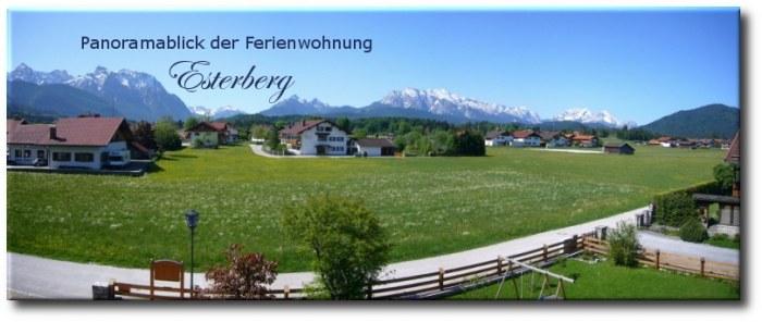 Panoramablick Ferienwohnung Esterberg