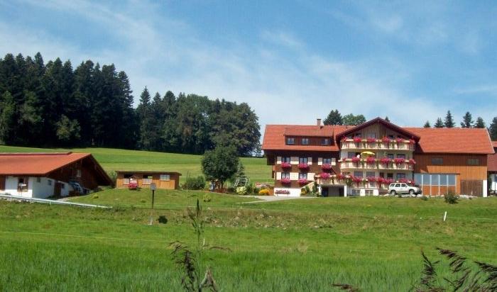 Bauernhof Wiedemann aus der Ferne im Sommer