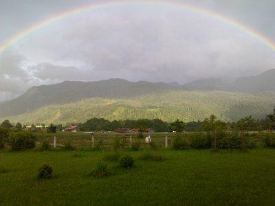 Regenbogen über Schleching
