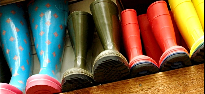 Gummistiefelsammlung (© Fotolia.com : maureen plainfield )