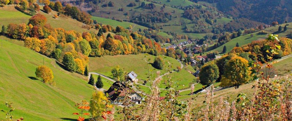 Schwarzwald Landschaft - Blick vom Wiedener Eck
