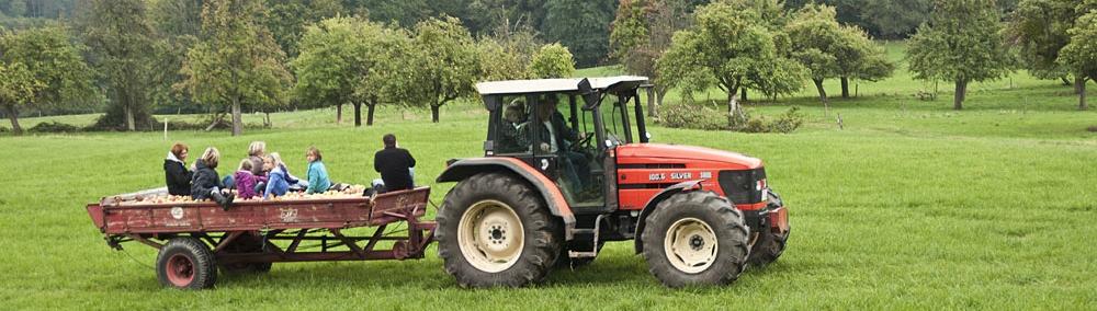Traktorfahrt (© LAG Hessen : Silas Koch )