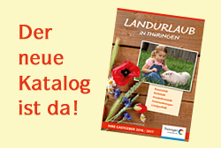 Neuer Katalog Landurlaub in Thüringen 2016
