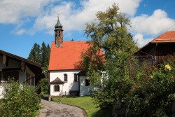 Kapelle Bezaubernde Kapelle Maria Heimsuchung in Pfronten-Meilingen.