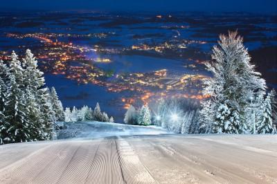 Flutlichtpiste im Skizentrum (© Pfronten Tourismus/ E. Reiter : Pfronten Tourismus/ E. Reiter )
