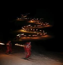 Fackellauf der Skischule Pfronten 30. Dezember und Rosenmontag
