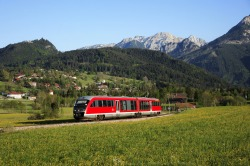 Ausserfernbahn Die Ausserfernbahn auf dem Weg von Pfronten-Steinach nach Pfronten-Ried und weiter nach Kempten.
