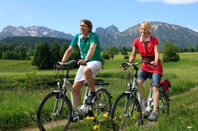 E-Bike Radeln in Pfronten (© Pfronten Tourismus/ E. Reiter : Pfronten Tourismus/ E. Reiter )