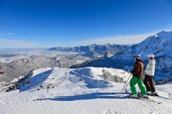 Hochalp im Winter Skifahren bei Pfronten im Allg�u