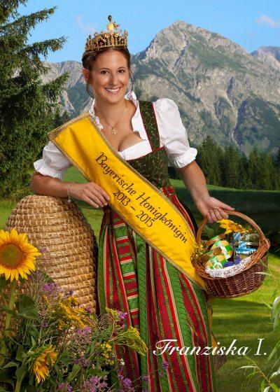 Bayerische Honigkönigin Franziska I.