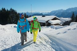 Winterwandern mit Hütteneinkehr