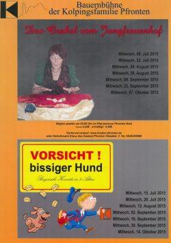 Plakat Bauernbühne 2015