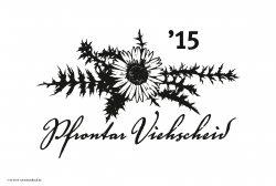 Viehscheidmotiv 2015 Pfrontar Viehscheid - Viehscheid Motiv 2015