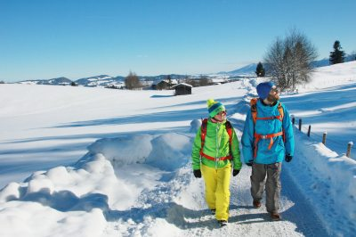 Winterwandern im Pfrontener Tal