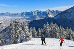 Skifahren mit Aussicht