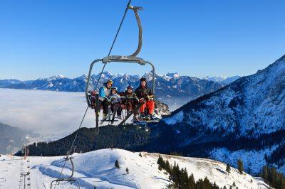 Skifahren am Skigebiet Hochalpe
