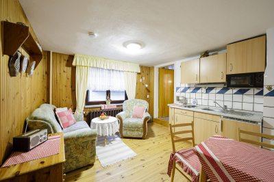 Wohnküche in der großen Ferienwohnung