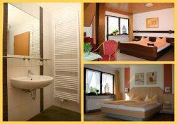 Zimmer und Bad