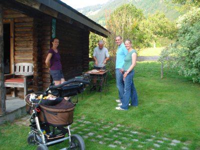 Grillen am Gartenhaus