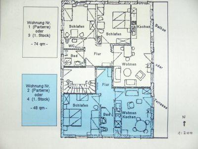 Grundriss Erdgeschoß + 1. Stock