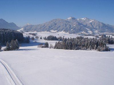 winter richtung alpspitze