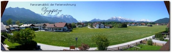 Panoramablick Ferienwohnung Zugspitze