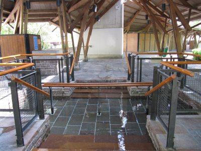 Wassertretstelle Kurhaus Pergola