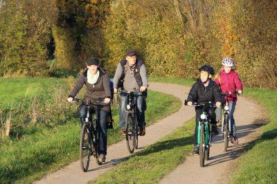 Wir fahren Fahrrad