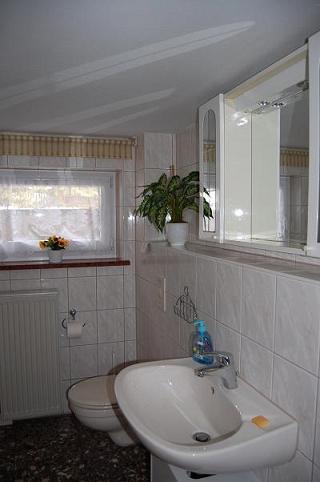 Ferienhaus Waldblick Badezimmer