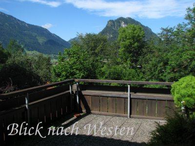 Balkon nach Westen