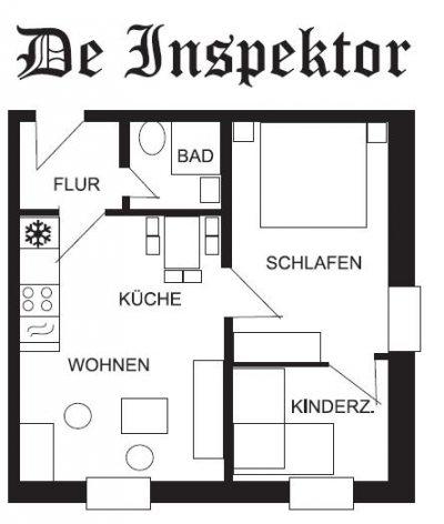 De Inspektor: Grundriss