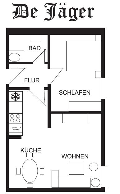 De Jäger: Grundriss