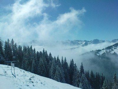 Aussicht von der Bergstation Hörnerbahn Bolsterlang