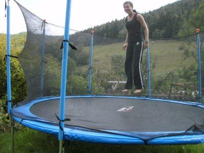 Spaß beim Hüpfen
