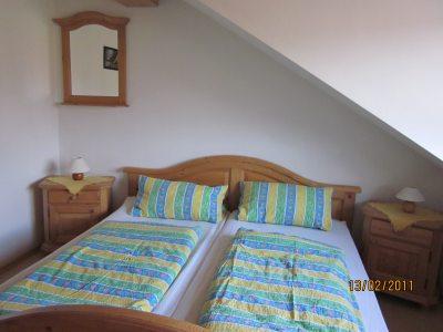 Ferienwohnung Gänseblümchen: Schlafzimmer