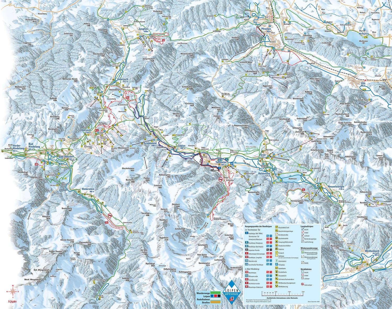 Pistenplan von Tannheimer Tal